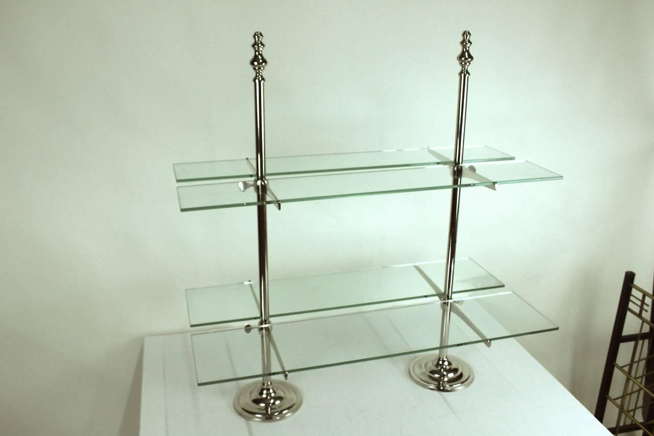 Pair of grand serving etageres glass shelving for entertaining at 1stdibs - Etagere grande hauteur ...