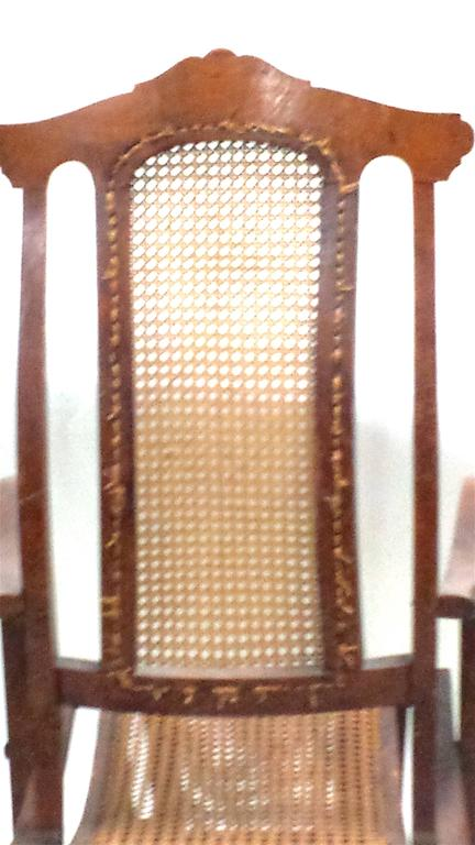 English Antique Folding Luxury Wood Steamer Deck Chair, circa 1890, England For Sale