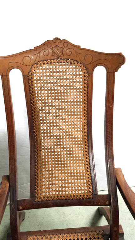 Late 19th Century Antique Folding Luxury Wood Steamer Deck Chair, circa 1890, England For Sale