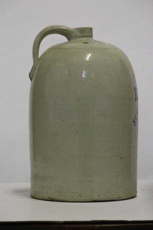 Large Early American 5 Pennsylvania Salt Glaze Jug
