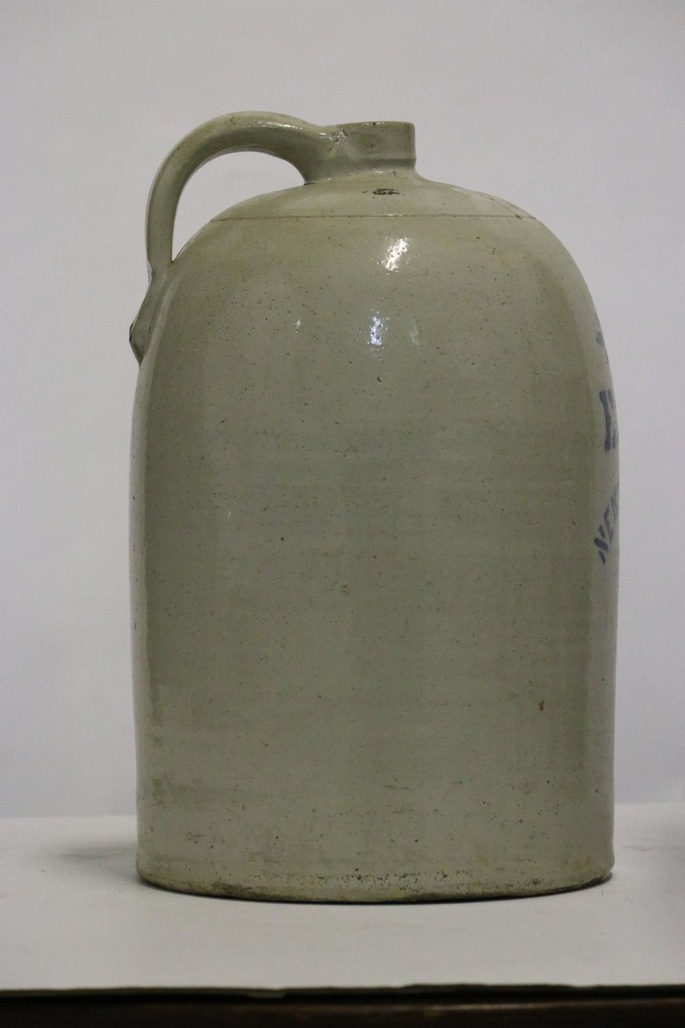 Large Early American 5 Pennsylvania Salt Glaze Jug