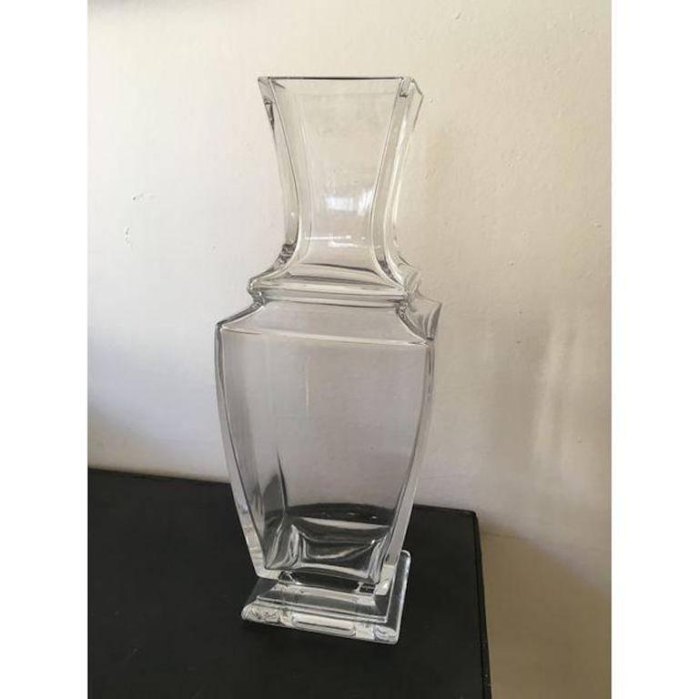 Elegant Vintage Baccarat Clear Crystal Vase For Sale At