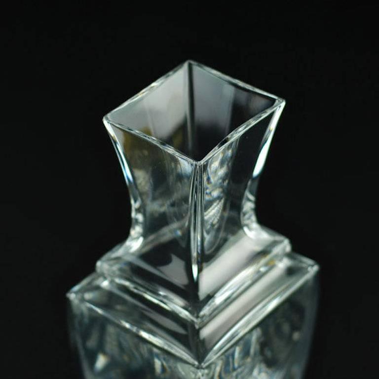 Elegant Vintage Baccarat Clear Crystal Vase For Sale At 1stdibs