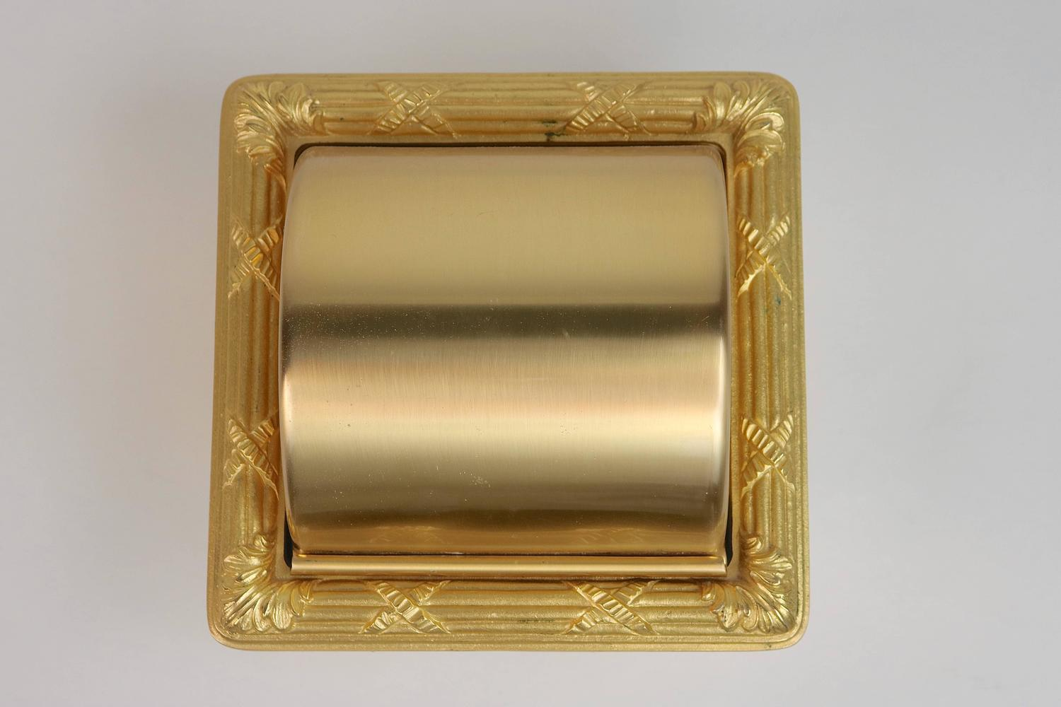 Luxe Sherle Wagner 22 Karat Gold Plated Recessed Toilet