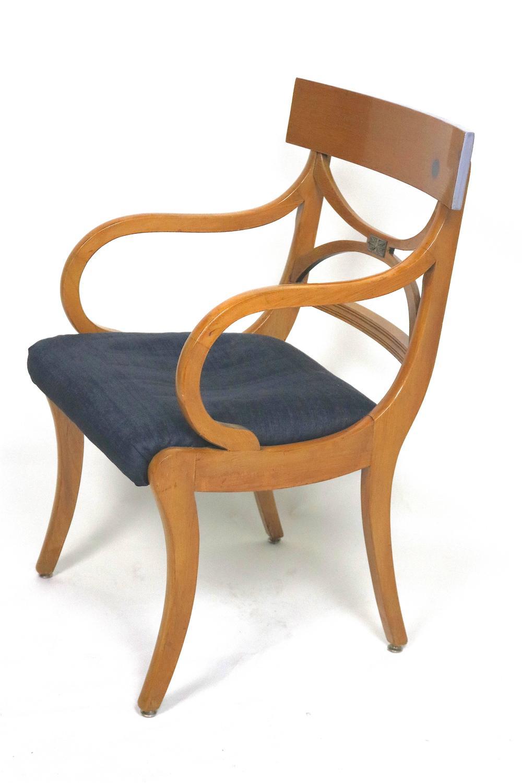 Set of Ten Fruitwood Dining Chairs Elegant Ruhlmann Style ...