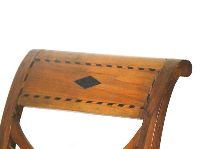 Swedish Biedermeier Karl Johan Birchwood Side Chairs, circa 1830-Provenance In Good Condition For Sale In West Palm Beach, FL