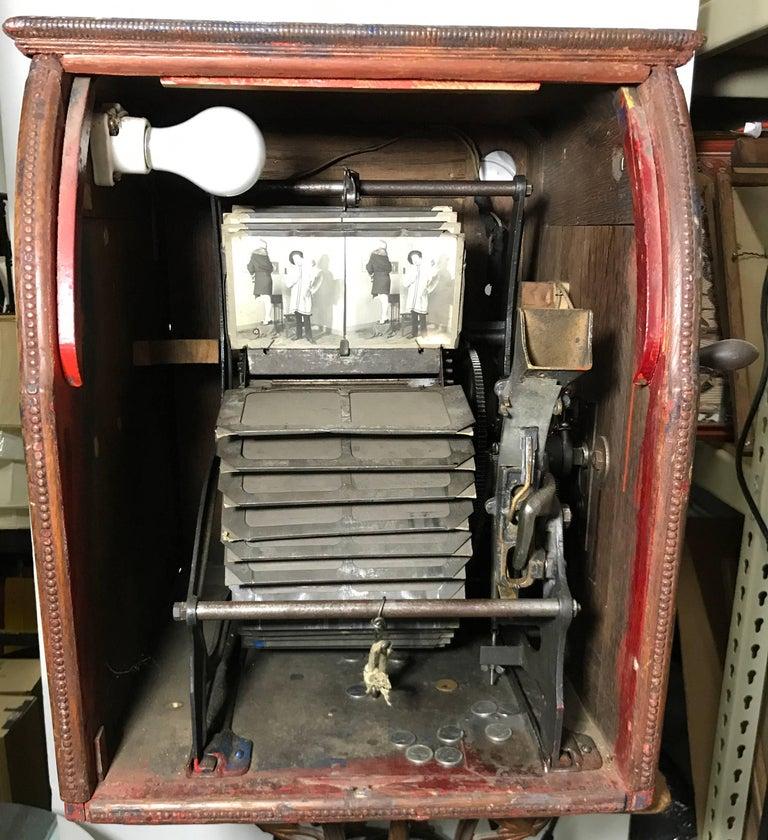 Art Nouveau Mills 5c Quartoscope Coin Op Stereo Viewer Arcade Machine circa 1890 For Sale 4