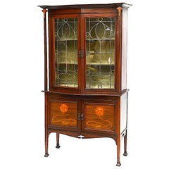 Tycoon's Art Nouveau Marquetry Cabinet Iconic Galle Style, circa 1910 Provenance