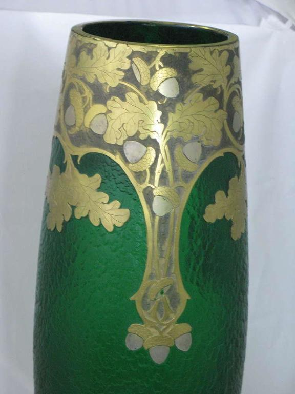 "circa1890 Grand ""Exhibition"" Glass Vase by Francois-Theodore Legras,Saint-Denis 7"