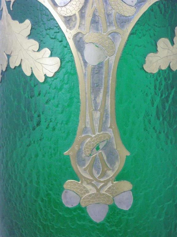 "circa1890 Grand ""Exhibition"" Glass Vase by Francois-Theodore Legras,Saint-Denis 8"