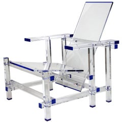 Invisible Lucite Plexiglass Lounge Chair