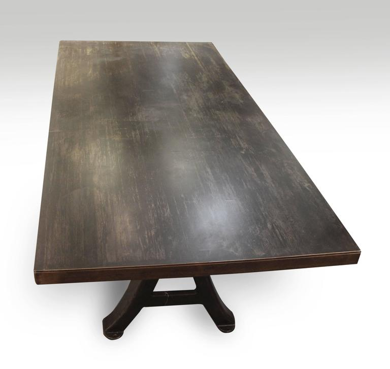 Cast Iron Table Legs For Sale: Steel Table With Original Cast Iron Machine Legs For Sale