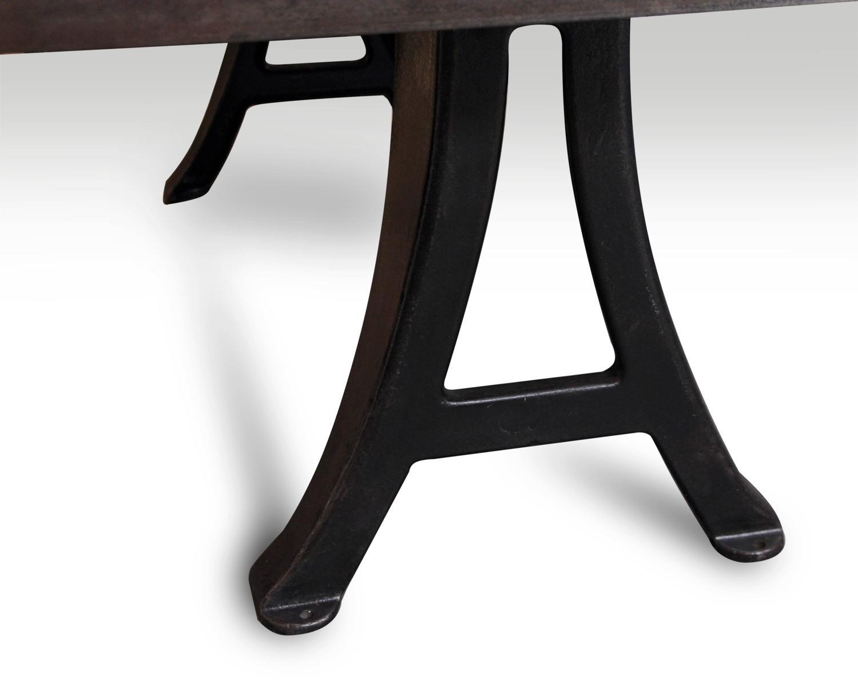 Steel table with original cast iron machine legs for sale for Cast iron furniture legs for sale