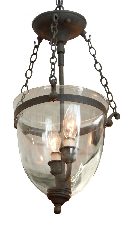 1930s bell jar pendant light with dark bronze finish for sale at. Black Bedroom Furniture Sets. Home Design Ideas
