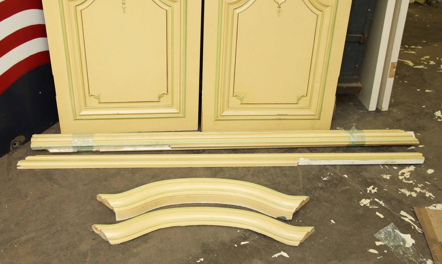 1930s set of three french provincial wood doors with for 1930s front door furniture