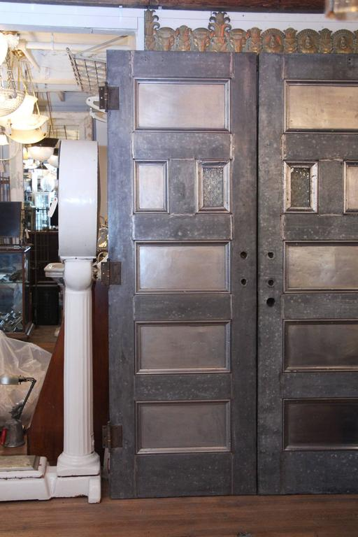 1920s Pair of Fireproof Kalamein Doors with Five Panels by Coburn Trolley Co 2 & 1920s Pair of Fireproof Kalamein Doors with Five Panels by Coburn ... Pezcame.Com