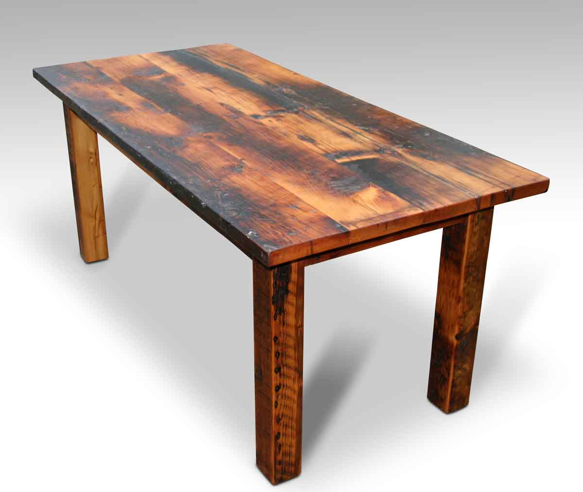 Gentil Customizable Rustic Square Leg Pine Farm Table For Sale At 1stdibs