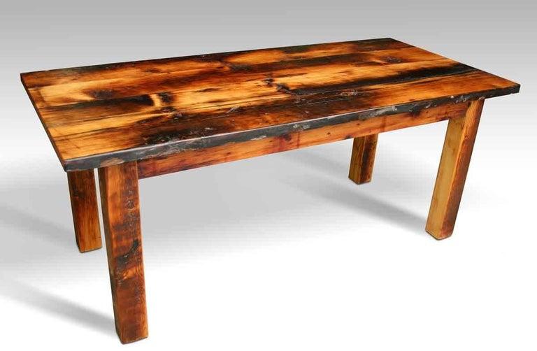 Customizable rustic square leg pine farm table for sale at for Rustic farm tables for sale