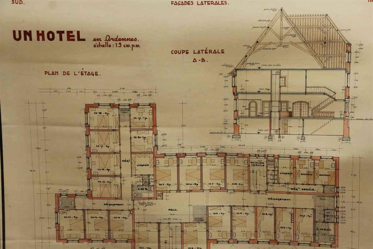 French architects blueprint poster for sale at 1stdibs french architects blueprint poster in good condition for sale in new york ny malvernweather Image collections