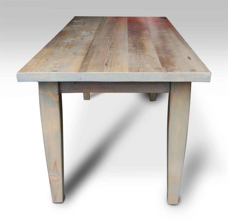 Farm table with light driftwood stain for sale at 1stdibs for Driftwood tables handmade