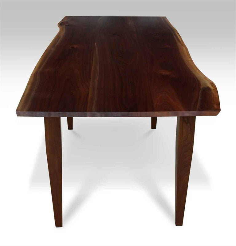 Live Edge Walnut Top Table with Tapered Legs For Sale at  : M23676702master from www.1stdibs.com size 768 x 803 jpeg 38kB