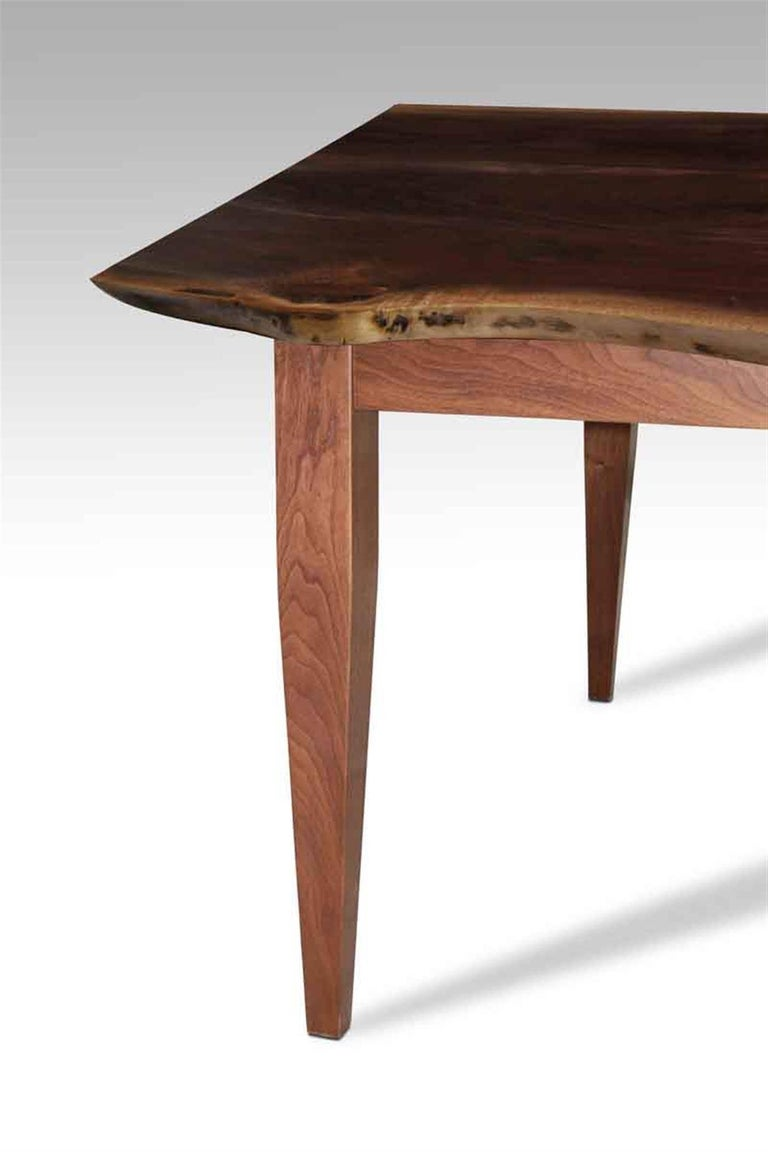 Live Edge Walnut Top Table with Tapered Legs For Sale at  : M23676703master from www.1stdibs.com size 768 x 1152 jpeg 47kB