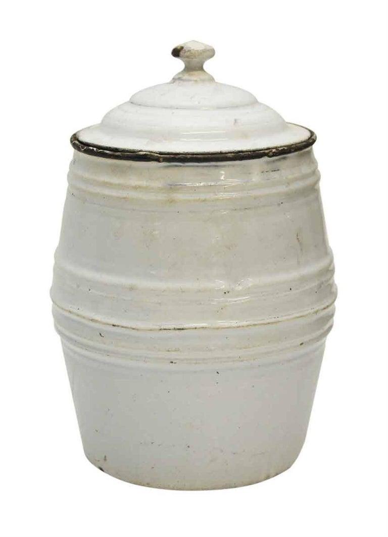 Metal 1950s White Chircoree French Kitchen Pot For Sale