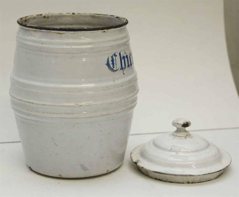 Mid-20th Century 1950s White Chircoree French Kitchen Pot For Sale