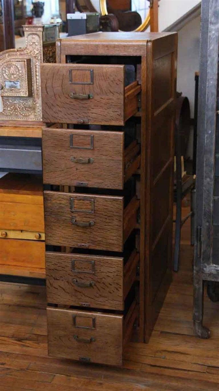 library bureau sole makers oak file cabinet for sale at 1stdibs. Black Bedroom Furniture Sets. Home Design Ideas