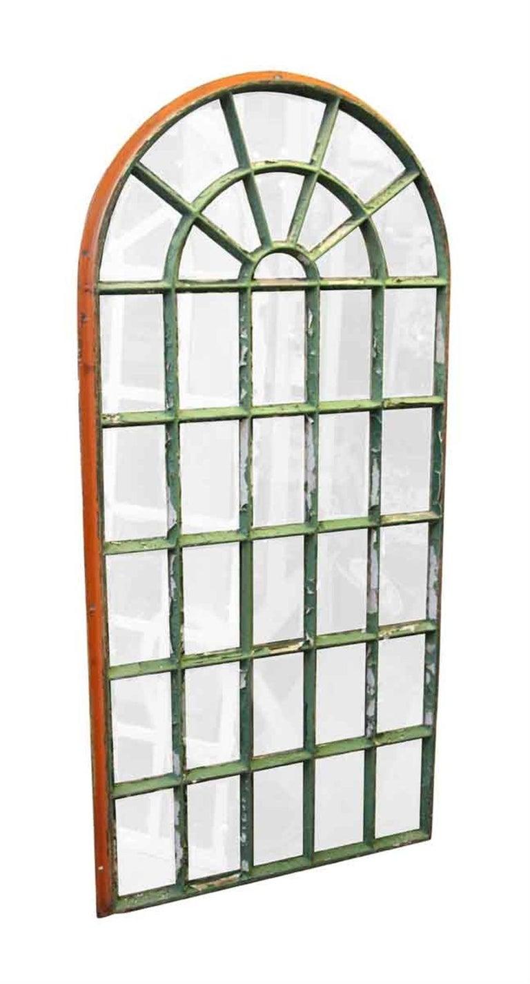 1930 Steel Frame Palladium Arched Chicken Wire Windows For Sale at ...