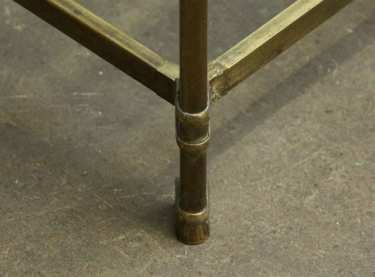 1970s Brass Mid-Century Modern End Table For Sale 1