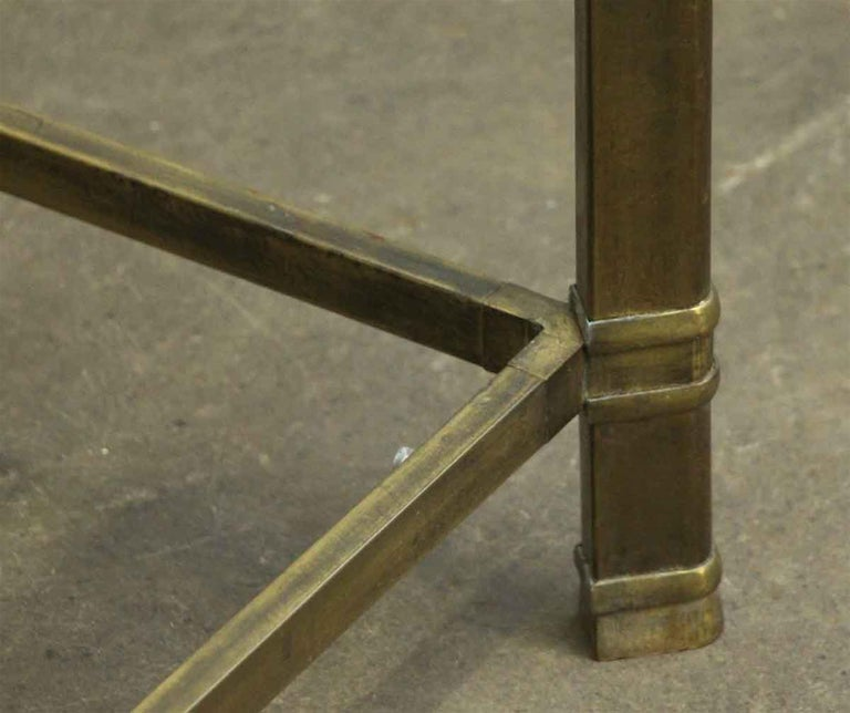 1970s Brass Mid-Century Modern End Table For Sale 2