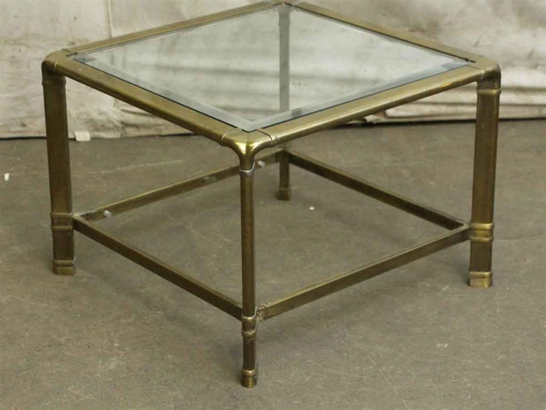 Late 20th Century 1970s Brass Mid-Century Modern End Table For Sale