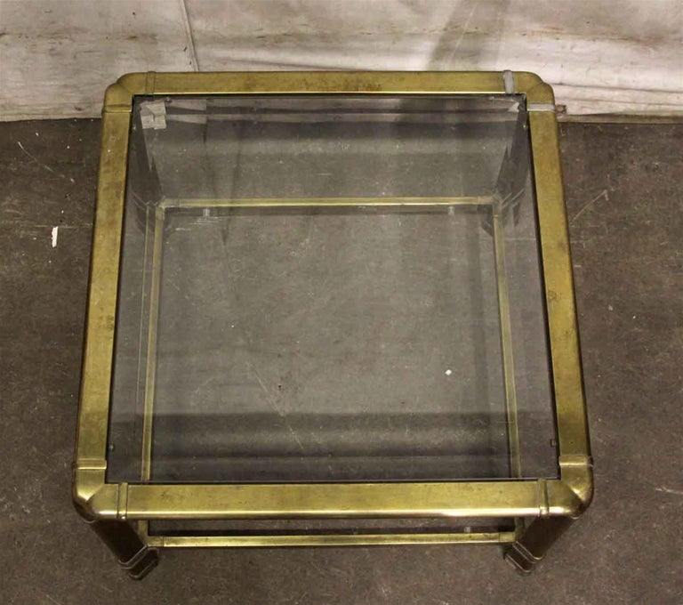 Italian 1970s Brass Mid-Century Modern End Table For Sale