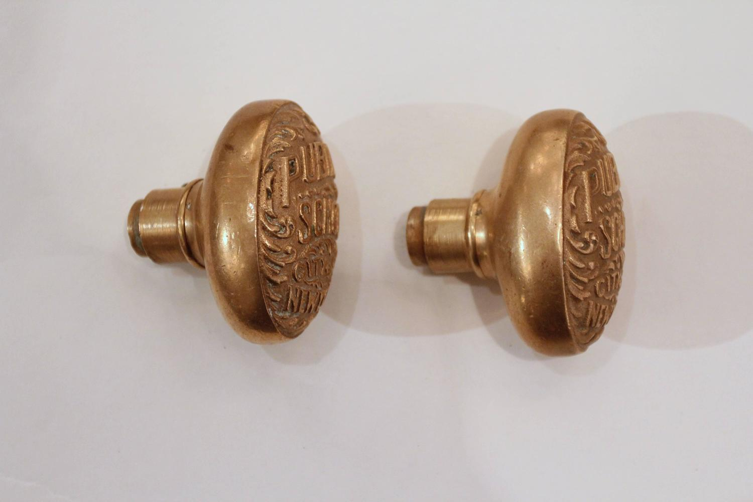 1930s pair of city of new york public school bronze door for 1930s style door handles