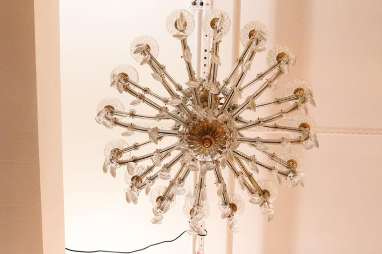 Mid-20th Century 1940s Marie Therese Sixteen-Light Crystal Chandelier