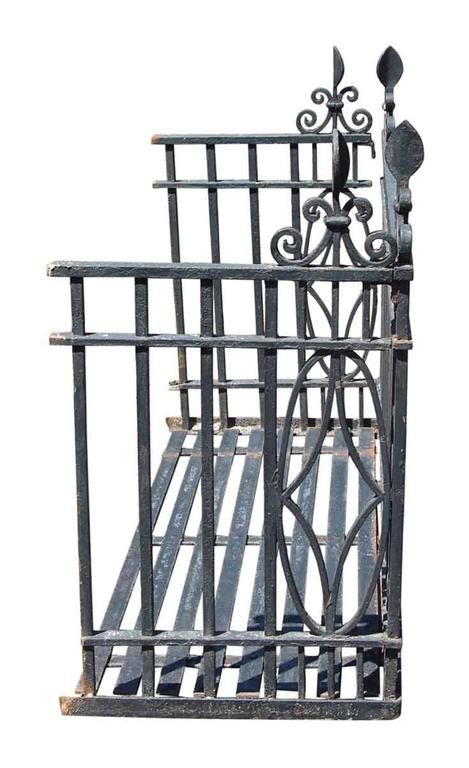 1905 Wrought Iron Handsmithed Georgian Balcony With