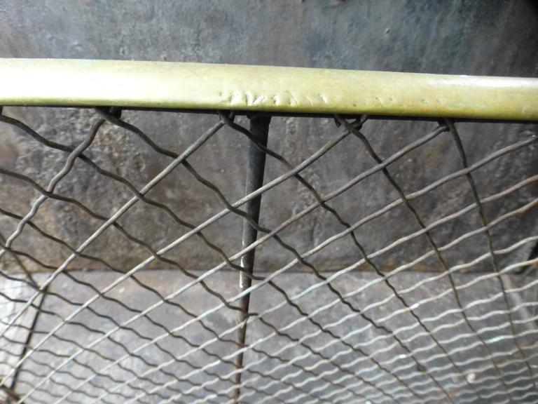 19th Century Victorian Fireplace Guard or Fire Guard For Sale 2