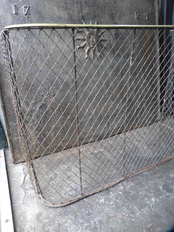 19th Century Victorian Fireplace Guard or Fire Guard In Good Condition For Sale In Amerongen, NL
