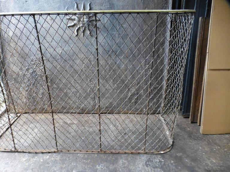 Brass 19th Century Victorian Fireplace Guard or Fire Guard For Sale
