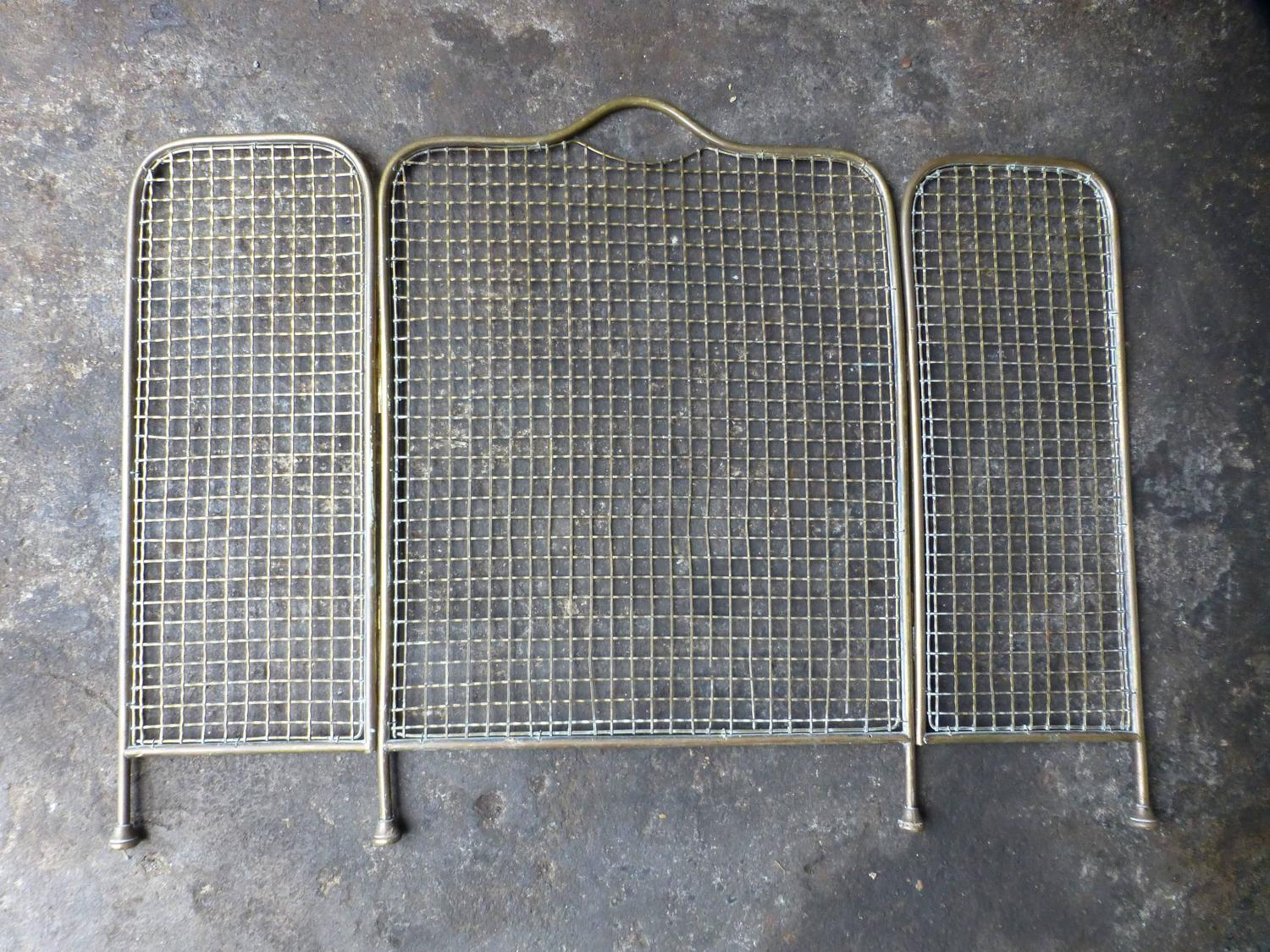 19th Century Brass Fireplace Screen Or Fire Screen For Sale At 1stdibs