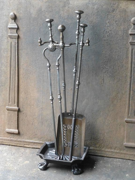 View this item and discover similar fireplace tools and chimney pots for sale at 1stdibs - 19th century English fireplace tool set made of polished steel.