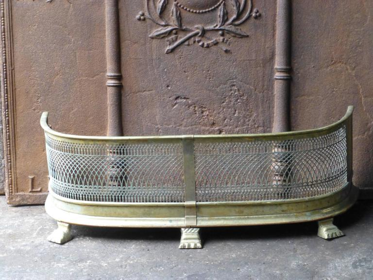 19th Century English Fireplace Fender, Fire Fender For Sale at 1stdibs