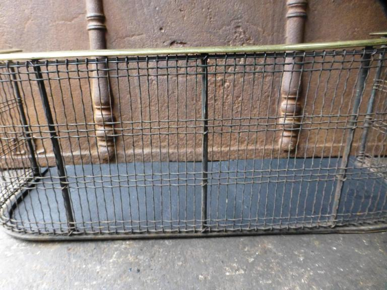 19th Century English Fireplace Guard, Fire Guard For Sale 3