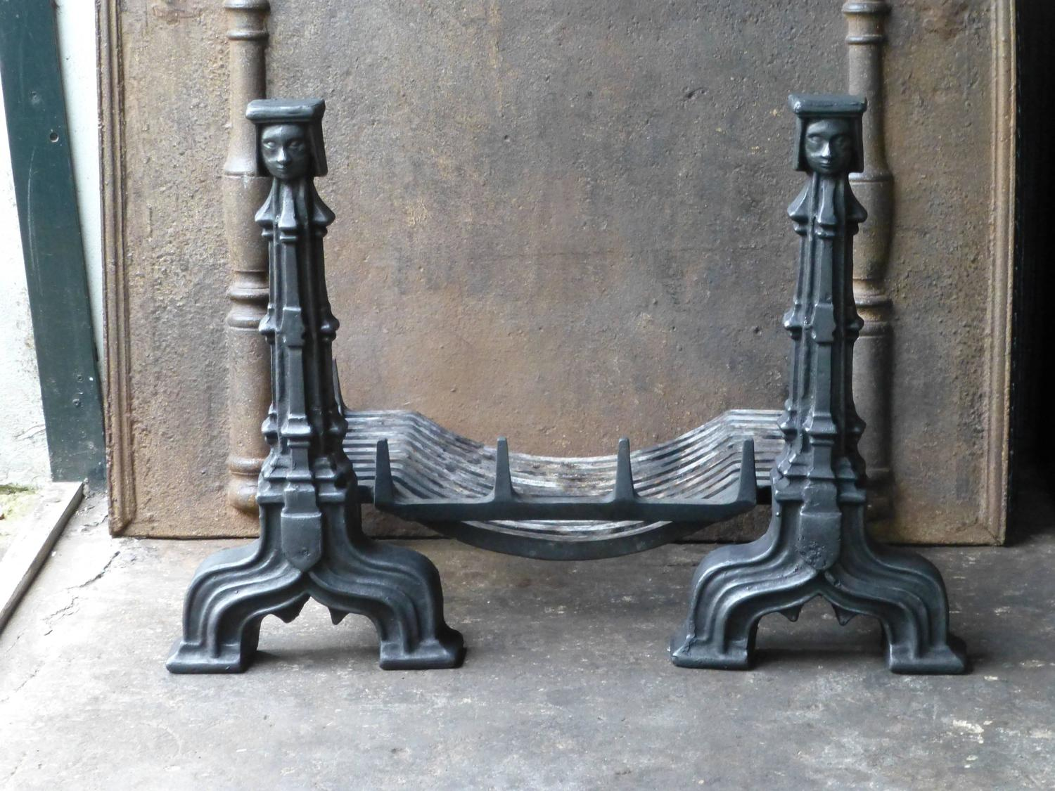 French Gothic Style Fireplace Grate Fire Grate For Sale At 1stdibs