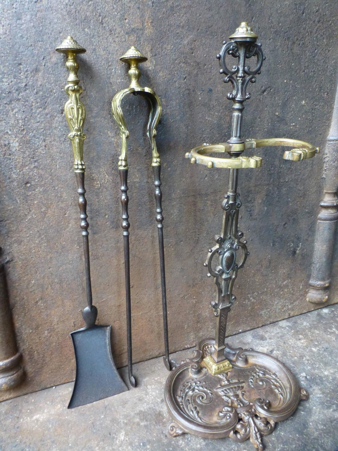 19th century french fireplace tools companion set for sale at 1stdibs