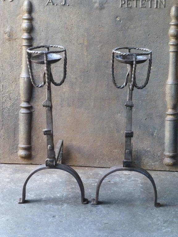 18th century large french andirons cupdogs for sale at for 18th century french cuisine