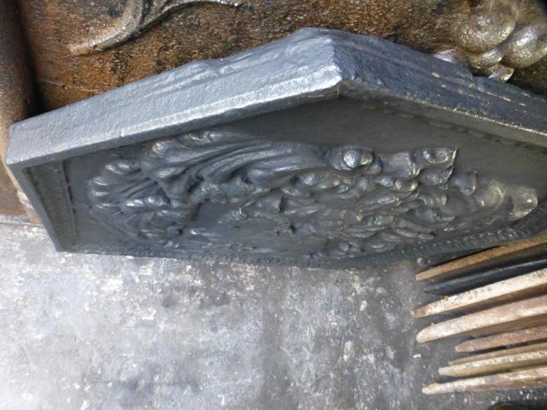 Iron 17th Century Arms Fireback For Sale