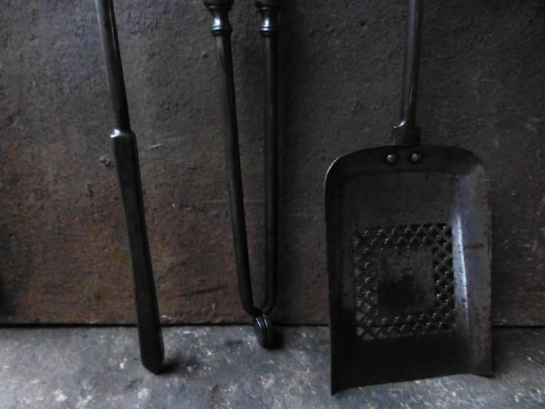 19th century english fireplace tools fire tools for sale. Black Bedroom Furniture Sets. Home Design Ideas