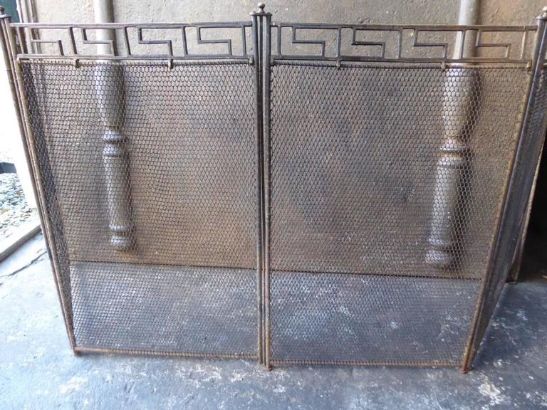 french art deco fireplace screen for sale at 1stdibs. Black Bedroom Furniture Sets. Home Design Ideas